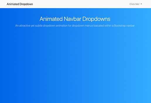 Dropdown Menu Animation for Bootstrap Navbar